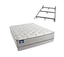 Simmons Beautyrest Twin Size Luxury Firm Comfort Mattress and Box Spring Sets With Frame simmons chickering twinxl lf low pro set with frame