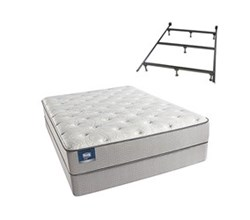 Simmons Beautyrest Twin Size Luxury Plush Comfort Mattress and Box Spring Sets With Frame simmons chickering twinxl pl low pro set with frame