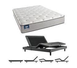 Simmons Beautyrest Twin Size Luxury Firm Comfort Mattress and Adjustable Bases simmons chickering twinxl lf mattress w base