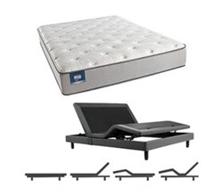 Simmons Beautyrest Twin Size Luxury Plush Comfort Mattress and Adjustable Bases simmons chickering twinxl pl mattress w base
