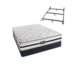 Simmons Beautyrest California King Size Luxury Plush Comfort Mattress and Box Spring Sets With Frame simmons fair lawn calking pl std set with frame