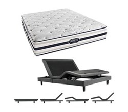 Simmons Beautyrest California King Size Luxury Plush Comfort Mattress and Adjustable Bases simmons fair lawn calking pl mattress w base