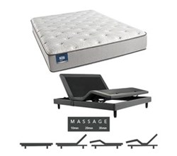 Simmons Beautyrest Twin Size Luxury Firm Comfort Mattress and Adjustable Bases simmons chickering twinxl lf mattress w mass base