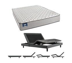 Simmons Beautyrest California King Size Luxury Firm Comfort Mattress and Adjustable Bases Cadosia CalKing F Mattress w Base N