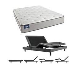 Simmons Beautyrest California King Size Luxury Plush Pillow Top Comfort Mattress and Adjustable Bases Cadosia CalKing PET Mattress w Base N