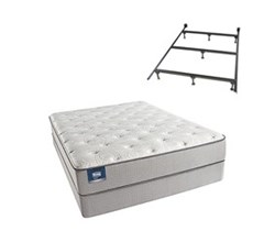Simmons Beautyrest Queen Size Luxury Firm Comfort Mattress and Box Spring Sets With Frame simmons chickering queen lf std set with frame