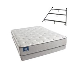 Simmons Beautyrest Queen Size Luxury Plush Comfort Mattress and Box Spring Sets With Frame simmons chickering queen pl low pro set with frame