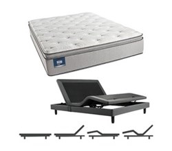 Simmons Beautyrest King Size Luxury Firm Pillow Top Comfort Mattress and Adjustable Bases simmons chickering king lfpt mattress w base