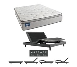 Simmons Beautyrest King Size Luxury Firm Pillow Top Comfort Mattress and Adjustable Bases simmons chickering king lfpt mattress w mass base