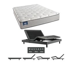 Simmons Beautyrest King Size Luxury Plush Comfort Mattress and Adjustable Bases simmons chickering king pl mattress w mass base