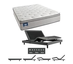 Simmons Beautyrest King Size Luxury Plush Pillow Top Comfort Mattress and Adjustable Bases simmons chickering king ppt mattress w mass base