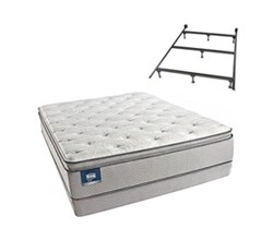 Simmons Beautyrest California King Size Luxury Firm Pillow Top Comfort Mattress and Box Spring Sets With Frame simmons chickering calking lfpt low pro set with frame