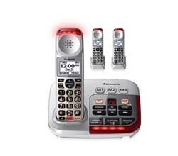 Panasonic 3 Handsets Cordless Phones panasonic kxtgm450 s tgma45 s