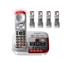 Panasonic 5  Handsets Cordless Phones panasonic kx tgm450s 4 kx tgma45s