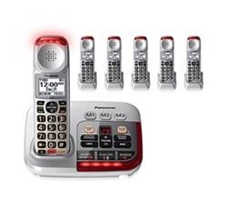 Panasonic 6 Handsets panasonic kx tgm450s 5 kx tgma45s