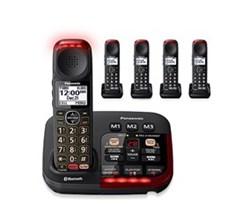 Panasonic 5  Handsets Cordless Phones panasonic kx tgm430b 4 kx tgma44b