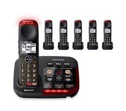 Panasonic 6 Handsets panasonic kx tgm430b 5 kx tgma44b