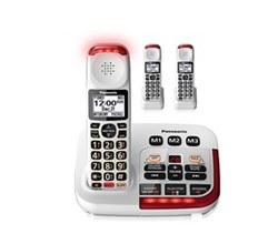 Panasonic 3 Handsets Cordless Phones panasonic kx tgm420w 2 kx tgma44w