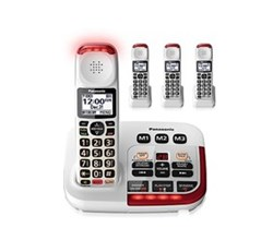 Panasonic Single Line Cordless Phones 4 Handsets panasonic kx tgm420w 3 kx tgma44w