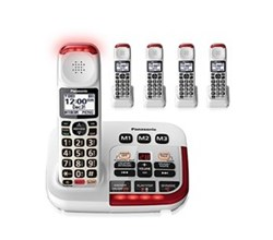 Panasonic 5  Handsets Cordless Phones panasonic kx tgm420w 4 kx tgma44w