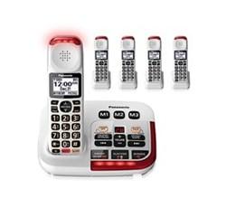 DECT 6.0 Cordless Phones Talking Caller ID panasonic kx tgm420w 4 kx tgma44w