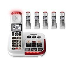 Panasonic 6 or More Handsets Cordless Phones panasonic kx tgm420w 5 kx tgma44w