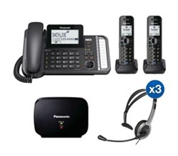 Panasonic 2 Line Corded Phones panasonic kx tg9582b