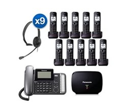 Panasonic 2 Line Corded Phones panasonic kx tg9582b 8 kx tga950b