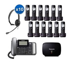 Panasonic 2 Line Corded Phones panasonic kx tg9582b 10 kx tga950b