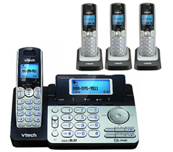 4 Handsets Phones with an Answering Machine   VTech DS6151 3 DS6101