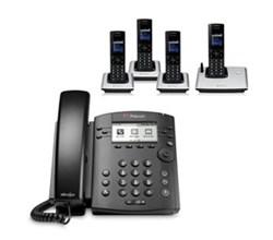 Polycom 4 Handsets polycom 2200 46161 025 vvx 310 with wireless handsets