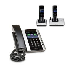 Polycom 2 Handsets polycom 2200 44500 025 vvx 500 with wireless handsets