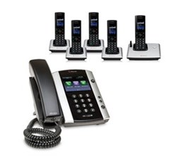 Polycom 5 Handsets polycom 2200 44500 025 vvx 500 with wireless handsets