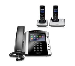 Polycom 2 Handsets polycom 2200 44600 001 vvx 600 with wireless handsets