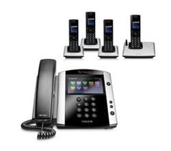Polycom 4 Handsets polycom 2200 44600 025 vvx 600 with wireless handsets