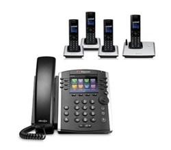 Polycom 4 Handsets polycom 2200 46162 001 vvx 410 with wireless handsets