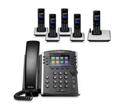 Polycom 5 Handsets polycom 2200 46162 001 vvx 410 with wireless handsets