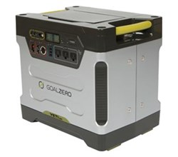 Heavy Duty Portable Power Yeti 1250 Solar Generator w Roll Cart