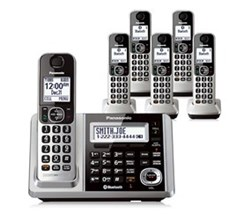 Panasonic 6 or More Handsets Cordless Phones panasonic kx tgf376s