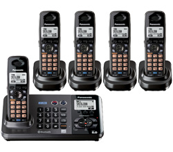 Panasonic 2 Line Cordless Phones panasonic kx tg 9382 t 3 kx tga 939
