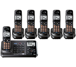 Panasonic 2 Line Cordless Phones panasonic kx tg 9382 t 4 kx tga 939