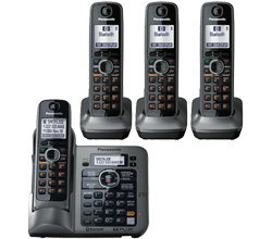 DECT 6.0 Cordless Phones Talking Caller ID panasonic kx tg7644m