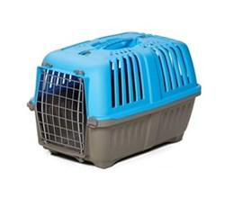 Travel Carriers midwest 19 inch spree plastic pet carrier blue