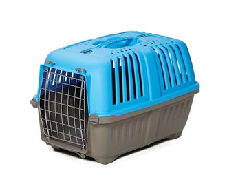 midwest 19 inch spree plastic pet carrier blue