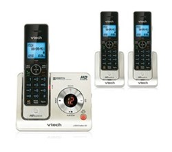3 Handsets Phones with an Answering Machine   VTech ls6425 3