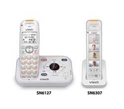 VTech two handset phones vetch sn6127 1 sn6307