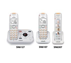 VTech three handset phones vetch sn6127 1 sn6107 1 sn6307