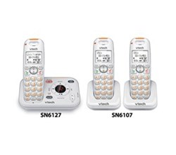 VTech three handset phones SN6127 2 SN6107