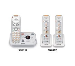 VTech three handset phones SN6127 2 SN6307