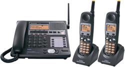 Panasonic 58GHz Cordless Phones panasonic kxtg 4500 b tga 450 b